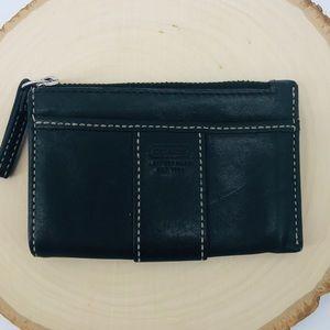 Coach | Black Leather Card Holder Mini Wallet